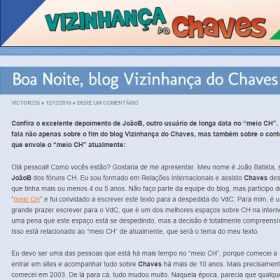 Boa Noite, blog Vizinhança do Chaves