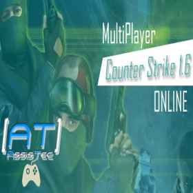 Como Jogar Counter Strike CS 1.6 MultiPlayer Online 2017 - [AT] AssisTec