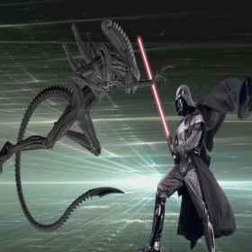 "Como seria o ""Alien"" contra Darth Vader ?"