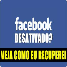 Facebook desativado - Fim do canal?