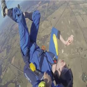 Paraquedista tem crise convulsiva em salto e relata o que passou