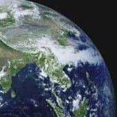Planeta Terra visto do espaço em 4K