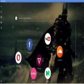 Teste do navegador conceito Opera Neon