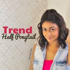 Trend Half Ponytail: Inspirações com o penteado da vez